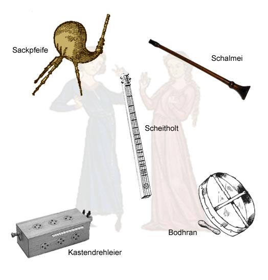 Die Musikinstrumente im Mittelalter