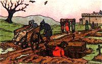Auszug aus einer Pestnacht in Naundorf im Mittelalter