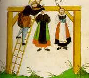 Foltermethode Aufhängen im Mittelalter