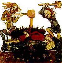 Pfählen im Mittelalter