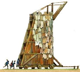 Die Belagerungsgeräte im Mittelalter