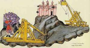 Das Katapult im Mittelalter