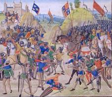 Die Schlacht von Crécy im Mittelalter