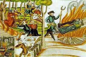 Verbrennen im Mittelalter